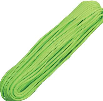 100ft 550 Parachute Cord/Paracord - Neon Green