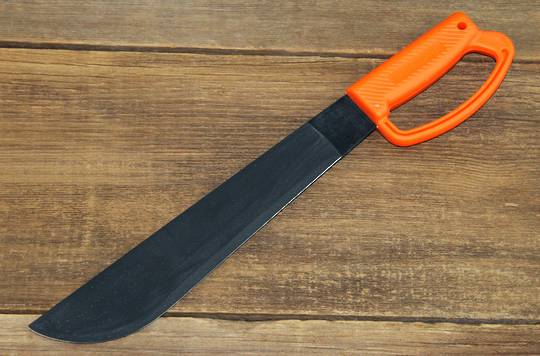 "Ontario OKC 12"" Camper Orange D Handle Knife"
