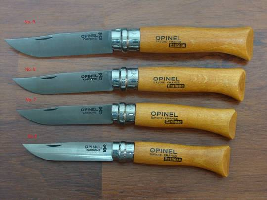 Opinel No. 6 - 9 Carbon Steel Pocket Knife