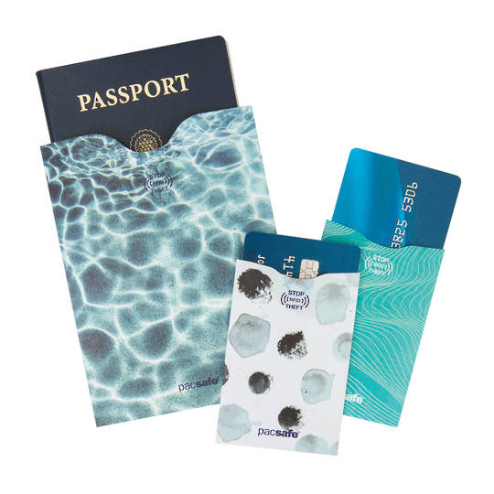 Pacsafe RFIDsleeve RFID-blocking passport and credit card sleeve pack