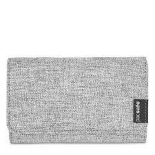 PACSAFE RFIDsafe LX100 RFID blocking wallet - Tweed  Grey