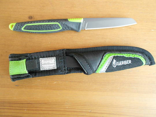 Gerber Freescape Paring Knife Gray Blade, Nylon Sheath