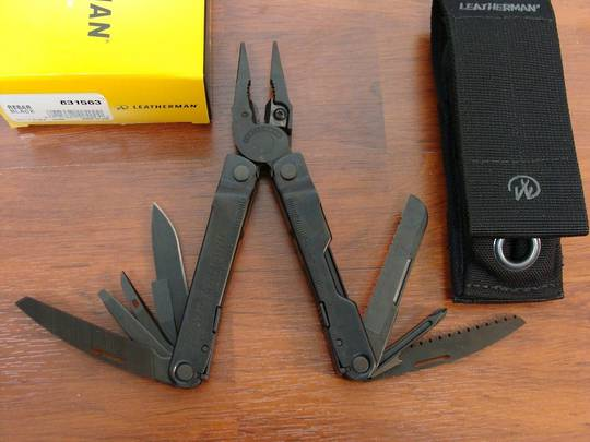 Leatherman Rebar Black Multi-Tool w/ Molle Sheath