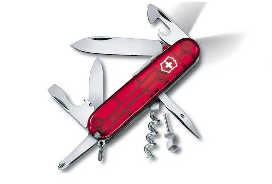 Victorinox Spartan Lite Swiss Army Knife Red Trans