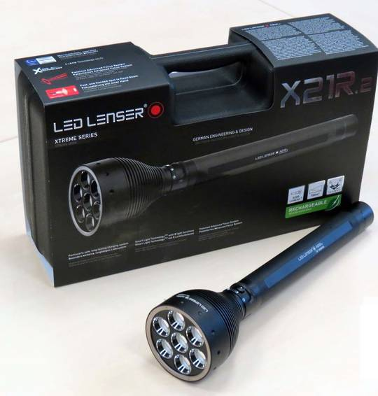 Led Lenser X21.2R Rechargable Torch 3200 Lumens - 9421-R