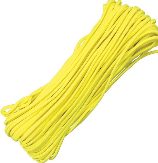 100ft 550 Parachute Cord/Paracord - Yellow