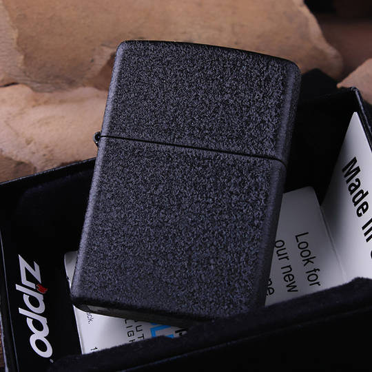Zippo Black Crackle Lighter - 236