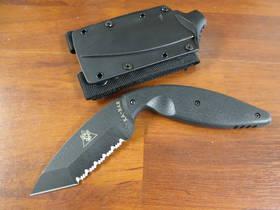 Ka-bar TDI Law Enforcement Combat Black Serrated Edge Tanto