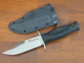 """Cold Steel Mini Leatherneck Fixed Knife 3.5"""" Clip Point, Kray-Ex Handle, Secure-Ex Sheath"""