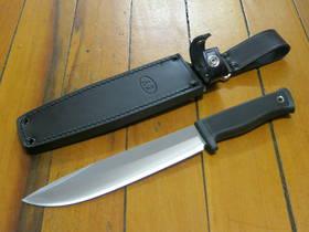 "Fallkniven A2 Wilderness Knife 8"" Satin VG10 Blade, Leather Sheath"