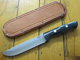 Bark River Bravo 1.5 Black Canvas Fixed Knife