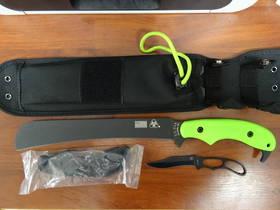 KA-BAR ZK (Zombie Killer) Knives Pestilence Chopper, Interchangeable Handles
