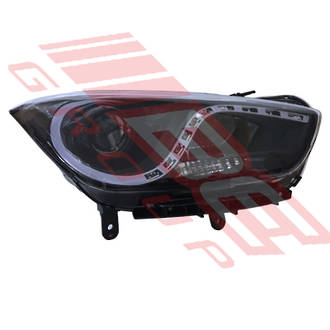 HEADLAMP - R/H - WITH LED - MANUAL - TO SUIT - HYUNDAI I40 2012-  SEDAN