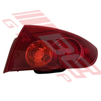 REAR LAMP - R/H - OUTER - PINKY RED - TO SUIT MAZDA 3 2004- SEDAN