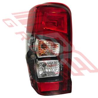 REAR LAMP - L/H - BULB TYPE - W/LED STRIPE - TO SUIT MITSUBISHI TRITON L200 2019-