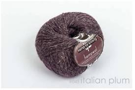 65% Wool and 35% Hemp - Double Knitting / 8 Ply Weight  - Italian Plum