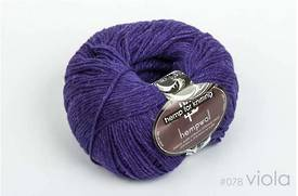 65% Wool and 35% Hemp - Double Knitting / 8 Ply Weight  - Viola