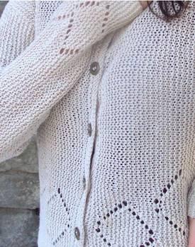 Lace Diamond Trellis Cardigan and Pullover