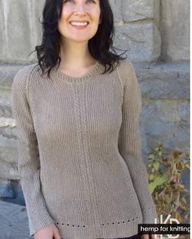 Casual Garter Stitch Pullover Hemp Knitting Pattern