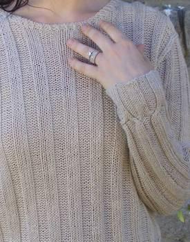 Cable Cross Pullover Hemp Knitting Pattern