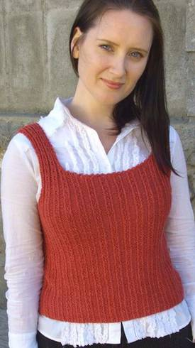 Fancy Ribbing Tank Top Hemp Knitting Pattern