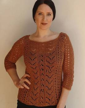 All Over Lace Top Hemp Knitting Pattern