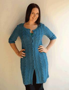 Terrific Twist Cardi Hemp Knitting Pattern