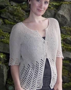 Lace Garden Cardi Hemp Knitting Pattern