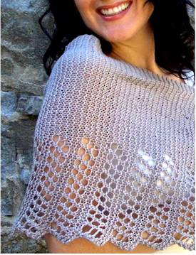 Cool Hemp Ponchette -  Small Hemp Knitting Project