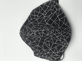 Constellation Stars with Plain Black on Reverse Side - Reversible Limited Edition Face Mask