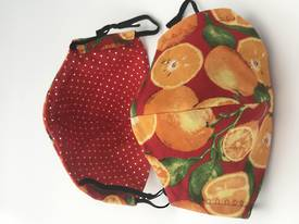 Oranges with Red Dots - Reversible Limited Edition Face Mask