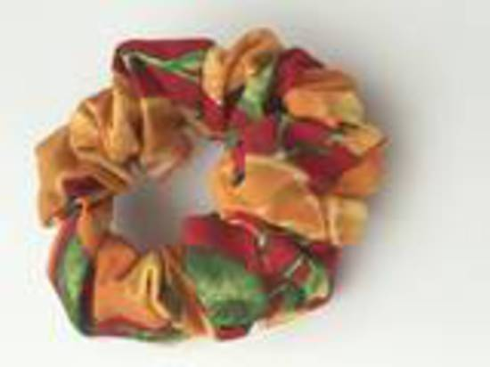 Oranges with Red Background Cotton Scrunchie