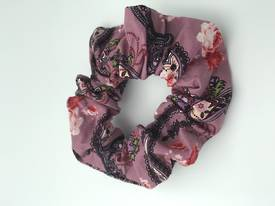 Rose Pink Paisley Scrunchie