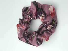 Rose Pink Paisley Scrunchie