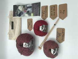 Get to Know Hemp Blends  Knitting Yarn - Kit Five - Shades of Red