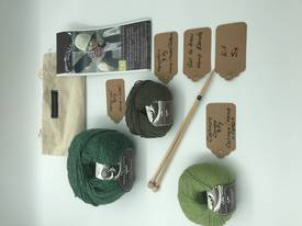 Get to Know Hemp Blends  Knitting Yarn - Kit Six - Shades of Green