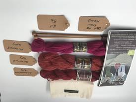 Get to Know Hemp Knitting Yarn - Kit Six - Shades of Red