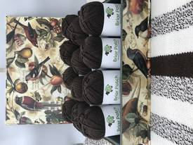 Two Dozen Balls of Chocolate Organically Grown Super Soft Merino Knitting Wool