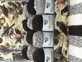 Two Dozen Balls of Organically Grown Super Soft Merino Knitting Wool - One Dozen in Each of Chocolate and Marle