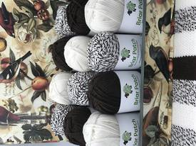 Two Dozen Balls of Organically Grown Super Soft Merino Knitting Wool in Three Natural Colours