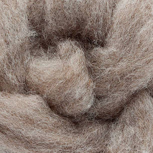 Carded Grey Wool 300g (10.5 oz)