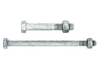 M16 Diameter Hex 4.6 Bolt/Nut - Galv. Bulk Pack