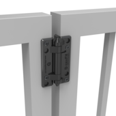 NEW! KWIKFIT™ POLYMER - NON SELF-CLOSING HINGES - PAIR