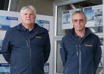 Busfield Marine Brokers Colin and Ron