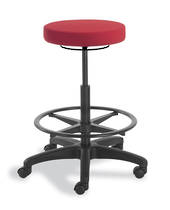 Stitch Stool with Hi Lift and Soft Wheel Braking Castors