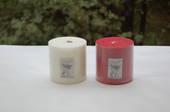Candle - pillar 10x10 White, Gardenia/Hibiscus fragrance