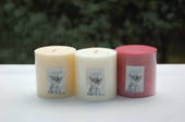 White. Gardenia Fragrance Candle - pillar 7.5x7.5