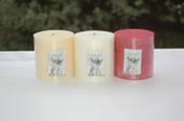 Candle - pillar 9 x 9 cm