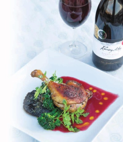Duck with Raspberry & Cassis Sauce
