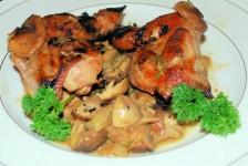Quail and Mushroom